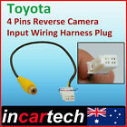 Toyota 4 Pins Male Connector Radio add Back Up Reverse Camera RCA Input Plug