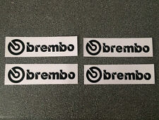 brembo Disk Break Stickers Decal Black Color 1 set of 4