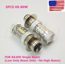 NEW 2Pcs Yamaha H6 80W motorcycle Super HID White LED Headlights Bulbs Upgrade