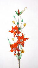 Red Flowers Crystal Glass Ornament Lovely Home Decoration Gift For Mother New
