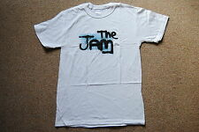 THE JAM SPRAY WALL LOGO T SHIRT SMALL NEW OFFICIAL PAUL WELLER ALL MOD CONS