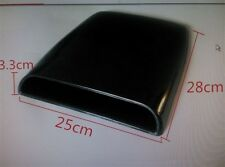 CAR ROOF HOOD AIR Scoop Decorative Vent Cover BLACK