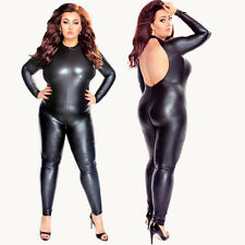 Plus Size Wet Look Catsuit Bodysuit | Size 5x (UK 22) | Private | £69.95