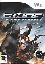 G.I. JOE THE RISE OF COBRA for Nintendo Wii - with box & manual - PAL