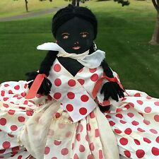 Vtg Toaster Cover Black Americana Aunt Jemima Folk Rag Doll Red Polka Dot Dress