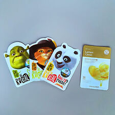 1 Free Gift Mask + 3 Pcs Dreamworks Character Sheet Pack Shrek Cat Kungfu Panda