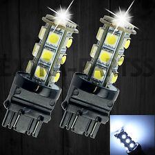 2Pcs 3157 White 18SMD 5050 Reverse Back Up/Tail/Brake/Stop/Turn LED Light Bulbs