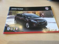 VAUXHALL ZAFIRA TOURER 2012 MODELS EDITION 1 Sales Brochure, VM1109887, 54 Pages