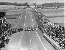 KARL KLING JUAN FANGIO DEBUT MERCEDES W196 STREAMLINER FRENCH GP 1954 PHOTOGRAPH