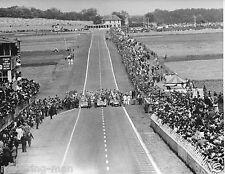 KARL KLING JUAN FANGIO DEBUT MERCEDES W196 STREAMLINER FRENCH GP 1954 PHOTOGRAPH
