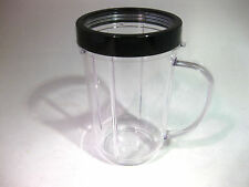 1 Genuine MAGIC BULLET Party cup Tall Handled Mug & Colored Lip Ring! No Wait