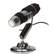 New USB Digital Microscope 8 LED Light Stand 50x and 500x Zoom Webcam Mode