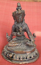 "Slightly Old Bronze Vajrasattva Statue for Dharma in Nepal, Tibet 5"" High"