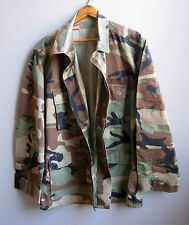 Vintage Army Camo Jacket Shirt Camouflage US Military Hunting Bdu Medium