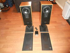 KEF Audiophile 103/3 Speakers w/ KUBE EQ and Stands, Refoamed, A+ Sound!
