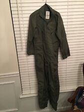 US Military Sage Green Nomex Summer Flyer's Coveralls Flight Suit CWU-27/P 42R