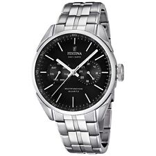 Festina Men's Multifunction F16630/8 black quartz date time stainless steel