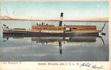 A4646) MARINA, BATTELLO ELVEZIA DELLA IMPRESA NAVIGAZIONE LAGO MAGGIORE VG 1903.