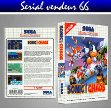 MASTER SYSTEM : SONIC CHAOS. COVER PRINTED + CASE/ BOX. NO GAME. MULTILINGUAL.