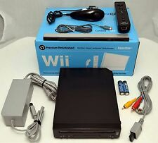 Nintendo Wii BLACK Home Gaming Console System Bundle RVL-101 video game tower