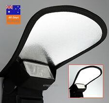 Universal Flash Reflector Silver/White Two Side for Canon Nikon Sony Pentax AU