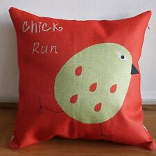 "A Chicken Run Throw Pillow Case Cushion Cover Square 18"" Throw Sofa Pillow"