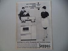advertising Pubblicità 1963 CUCINA FORNO ZOPPAS