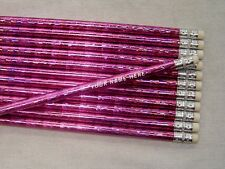 "24 ""Light Pink"" Prism Personalized Pencils"