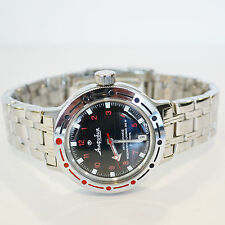 New VOSTOK Russian Amphibian 200m Diver Automatic Mens Watch #420280- US SELLER