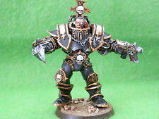 CHAOS SPACE MARINES ARMY- RARE 00P 54 MM SCALE MODELWELL PAINTED METAL