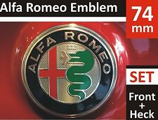 Alfa Romeo Emblem 74mm Grill Kühlergrill Motorhaube Heckklappe Badge Neu Logo