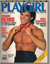 Playgirl magazine January 1989 Paul Deale Chicago Bears Michael Bannon Shane