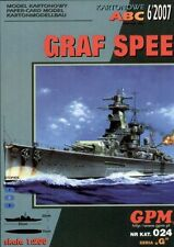 German cruiser Admiral Graf Spee paper model 1:200 huge 93cm