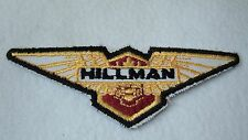 Vtg Hillman Motor Car  Embroidered Patch Unused! Iron or Sew On 5X1 5/8 Inches