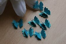 25 SMALL TEAL 3D BUTTERFLY WEDDING CONFETTI TABLE DECORATION TOPPERS