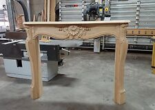 DS8012 : FRENCH LOUIS XV STYLE FIREPLACE SURROUND MANTEL REAL WOOD NOT MARBLE