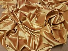 "1M Gold COLOURED  TAFFETA  FABRIC 58"" WIDE"