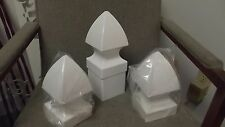 4x4 PVC Fence Post FRENCH GOTHIC Cap Top Vinyl White 4 x 4