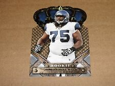 2011 Crown Royale JAMES CARPENTER #141 Rookie Gold/25 Seattle SEAHAWKS Alabama