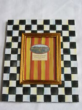 Mackenzie Childs COURTLY CHECK ENAMEL 5 X 7 Picture FRAME NEW $98 mc14