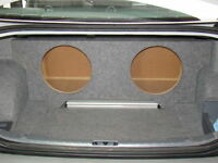 Zenclosures 2006-2012 BMW 3 Series 2-12 Sub Subwoofer Box w/Amp Area Cpe & Sedan