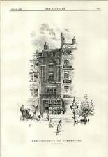 1891 Premises Of The Engineer 163 Strand Engraving