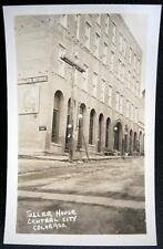 CENTRAL CITY CO~1920's TELLER HOUSE BAR ~ Un-Paved Street ~ Old Lamps ~ RPPC