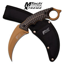 MTech Xtreme Fixed Blade Karambit Handle Hunting Tactical Knife Knives # 8140BN