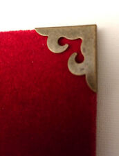 4 x METAL BOOK CORNERS Antique Bronze 3.8 x 2.1cm MENU SCRAPBOOK MYO CRAFT