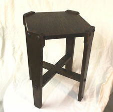 Antique Arts and Crafts Mission Oak Pedestal Table Stand
