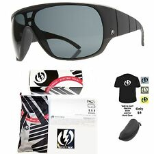 NEW Electric Shaker Mens Matte Black Grey Lens Sunglasses Msrp$120