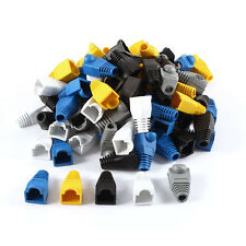 Uxcell 100 Pcs Soft Plastic Ethernet RJ45 Cable Connector Boots Plug Cover Hot