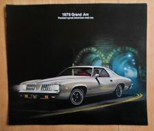PONTIAC GRAND AM orig 1975 USA Mkt Large Format Sales Brochure