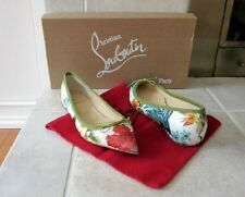 New CHRISTIAN LOUBOUTIN SolaSofia Hawaii Corde Flats Shoes Sz.36.5 FABULOUS!